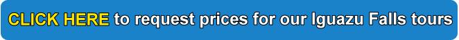 Iguazu Falls price quote for tours